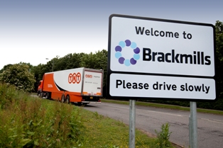 Brackmills industrial estate BID welcome sign